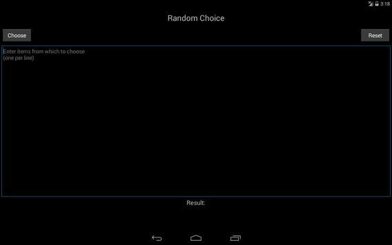 Random Choice apk screenshot