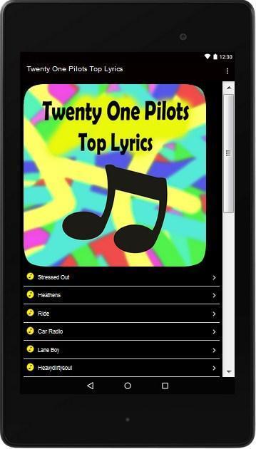 Twenty One Pilots Top Lyrics For Android Apk Download