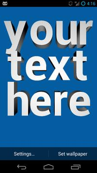 3D Text Live Wallpaper Poster