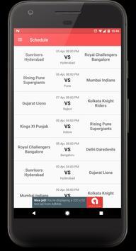 Schedule for IPL 2017 screenshot 3
