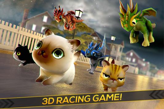 Kitty vs Baby Dragons Race poster