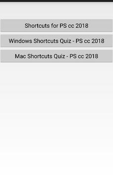 Shortcuts for PS cc 2018 apk screenshot