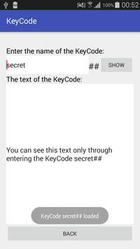 KeyCode screenshot 2