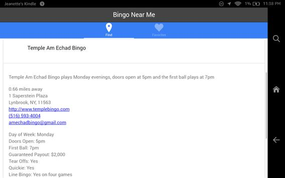 Bingo Near Me apk screenshot