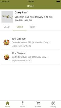Curry Leaf Takeaway apk screenshot