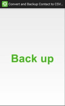 Convert and backup Contact to CSV, Email screenshot 2