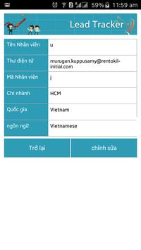 Rentokil Lead Tracker Vietnam apk screenshot