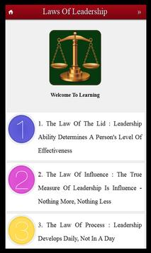 21 Laws of Leadership Skills poster