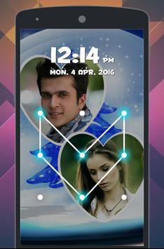 Lover Photo Pattern LockScreen apk screenshot