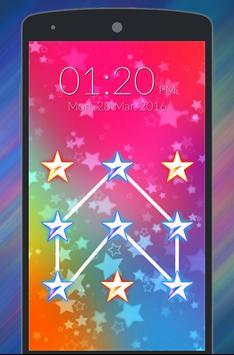Star Pattern Lock Screen poster