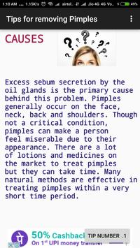 Remove Pimples - Natural remedies poster