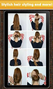 Cheerful types hairstyles poster