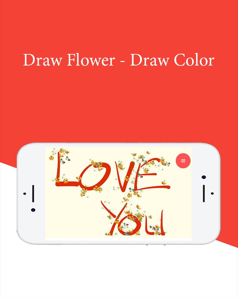 Draw Flowers - No Ads poster