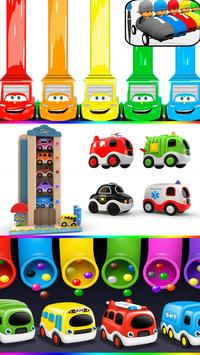 learn colors with cars toys poster