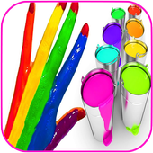 colors children for body paint icon