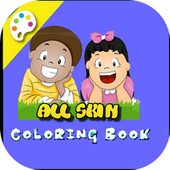 All Skin Kids Coloring Book icon