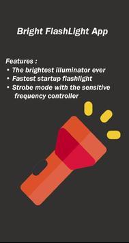 Bright Flash Light App poster