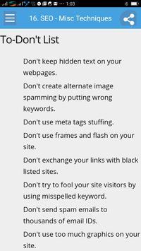 Learn Seo Full screenshot 4