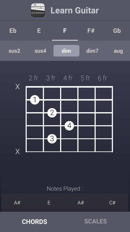 Learn Guitar Chords & Scales APK Download - Free Music & Audio APP ...