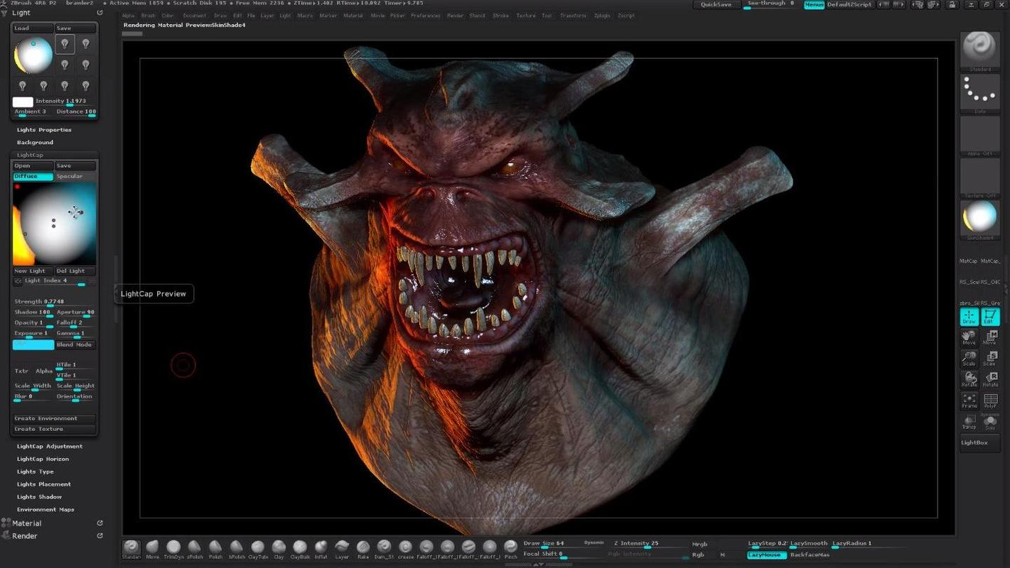 Android 用の 3D Zbrush Referen...