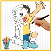 How To Drawing Nobita icon