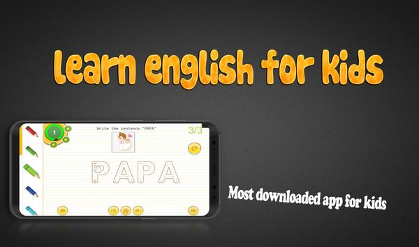 learn english for kids tracing: abc & 123 kids screenshot 3