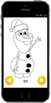 Learn How to Draw Olaf with Santa Claus Hat screenshot 1
