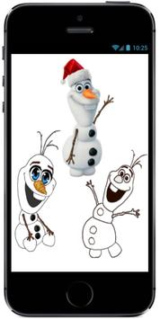 Learn How to Draw Olaf with Santa Claus Hat screenshot 3