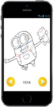 Learn How to Draw Bob the Minion with a Teddy Bear apk screenshot