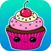 Learn How to Draw a Cute Cupcake #1 step by step icon