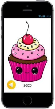 Learn How to Draw a Cute Cupcake #1 step by step poster