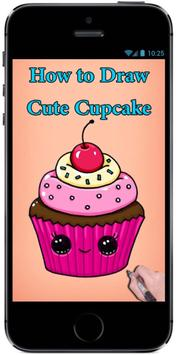 Learn How to Draw a Cute Cupcake #1 step by step screenshot 1
