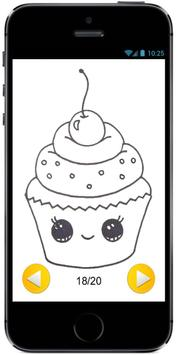 Learn How to Draw a Cute Cupcake #1 step by step screenshot 2