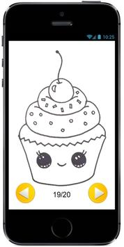 Learn How to Draw a Cute Cupcake #1 step by step screenshot 3