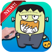Learn how to Draw Cute Kids in Halloween Costumes icon