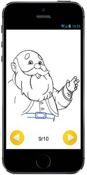 Learn How to Draw Cartoon Santa Claus and Reindeer screenshot 3