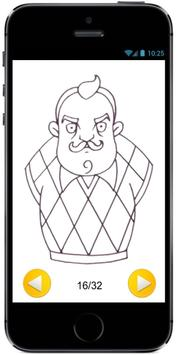 Learn How to draw The Neighbor from Hello Neighbor apk screenshot