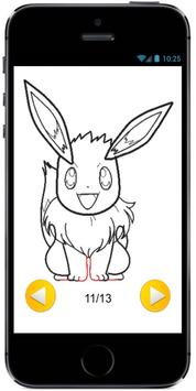 How to Draw Eevee from Pokemon : Drawing Tutorial screenshot 3