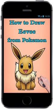 How to Draw Eevee from Pokemon : Drawing Tutorial screenshot 1