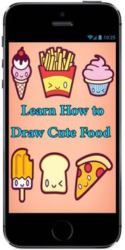 Learn how to Draw Cute Kawaii Food for Kids poster