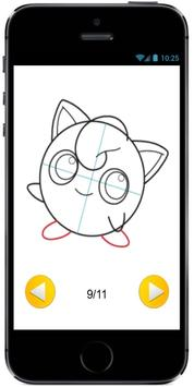 How to Draw Cute Baby JigglyPuff from Pokemon screenshot 1