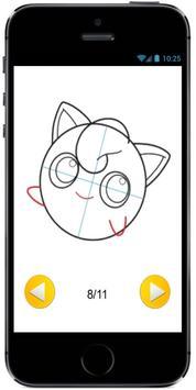 How to Draw Cute Baby JigglyPuff from Pokemon screenshot 3