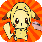 Draw Cute Pikachu with Costume Hood from Pokemon icon