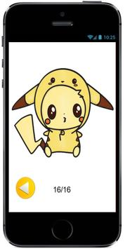 Draw Cute Pikachu with Costume Hood from Pokemon poster