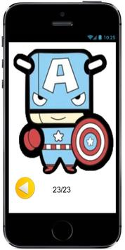 Learn How to Draw Cute Baby Captain America Marvel screenshot 2