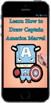 Learn How to Draw Cute Baby Captain America Marvel screenshot 3