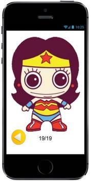 How to Draw Cute Baby Wonder Woman of superheroes screenshot 1