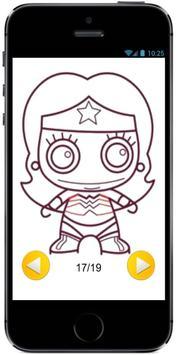 How to Draw Cute Baby Wonder Woman of superheroes screenshot 2