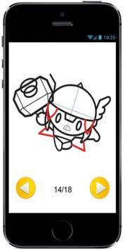 How to Draw Chibi kawaii Cute Baby Thor Marvel screenshot 3
