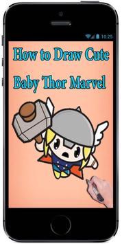 How to Draw Chibi kawaii Cute Baby Thor Marvel screenshot 2